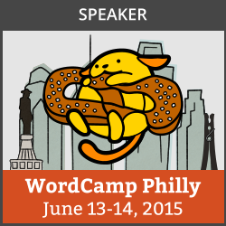 WordCamp Philly speaker badge