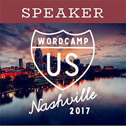 WordCamp US 2017 speaker badge